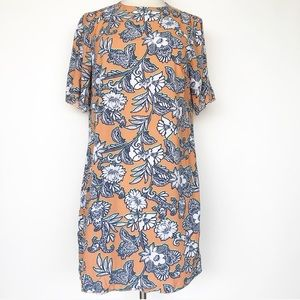ASOS orange Floral Beach T shirt dress